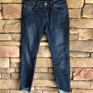 Girls Joe's Jeans Frayed Hem Skinny Jeans